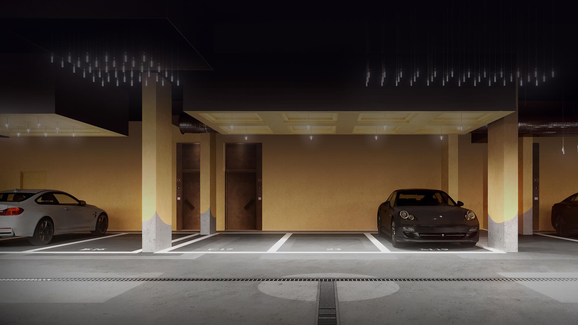 Подземный паркинг фото 1