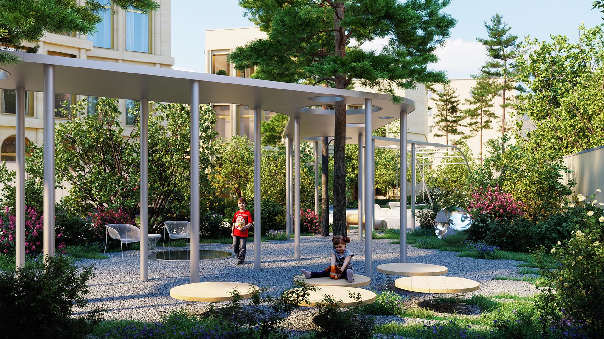 Парк и детская площадка