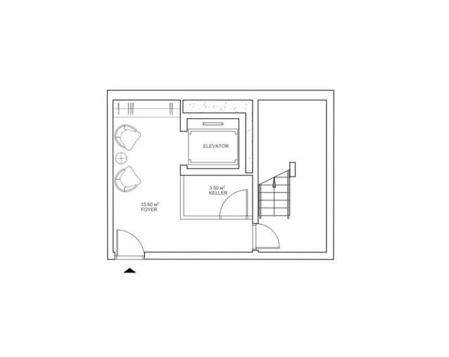Вариант планировки подземного этажа
