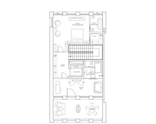 Вариант планировки третьего этажа